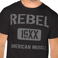 Custom Muscle Car Grunge Shirt - Customize Year